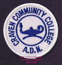 LMH PATCH Badge CRAVEN COMMUNITY COLLEGE Univ. ADN Nursing Program CCC Lamp Logo