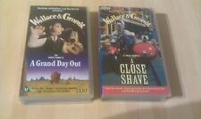 WALLACE AND GROMIT: 2 VHS TAPES,  A GRAND DAY OUT and A CLOSE SHAVE VGC BBC VHS
