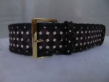 $225 Tory Burch Women's Haber Print Wide Belt Java Brown Multi Color XXS #825