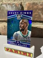 KEMBA WALKER 2017-18 PANINI DONRUSS OPTIC PURPLE PRIZM COURT KINGS #11 HORNETS