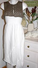 Nile Atelier Skirt/ Dress  Rock Long White Leinen  size: XS Neu