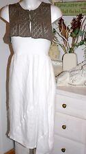 Nile Atelier Skirt/ Dress  Rock Long White Leinen  size: XS Neu