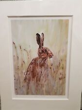 Joanne Harmer signed limited edition mounted print Take a moment