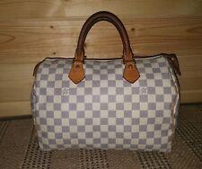 LOUIS VUITTON Speedy 30 DAMIER AZUR CANVAS Everything Handbag Satchel Authentic
