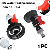 """IBC TANK ADAPTER S60X6 60MM CORSE THREAD TAP HOSE CONNECTOR FITTING 3/4"""" UK"""