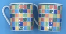 2 Villeroy & Boch Twist Alea Limone 10 Oz. Coffee Tea Cups Mugs