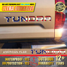 USA Flag Vinyl Decal Letters Insert Sticker for TOYOTA TUNDRA 2014-2020 Tailgate