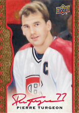 PIERRE TURGEON: 2014-15 UD Masterpieces Red Framed Cloth Autograph (sn#d 18/30)
