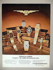 Longines Wittnauer Gold Watch PRINT AD - 1977 ~ Golden Wings ~watches,wristwatch