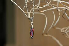 KB Jewelry Designs Sterling Silver .925 Handmade Cane Glass Bead Necklace