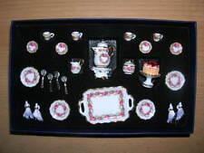 Reutter Porzellan Kaffeeservice 25tlg Rosenband Puppenstube 1:12 Art. 1.343/3
