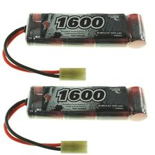 Vp-Racing 2x 8.4V 1600mAh 2/3A Nimh Mini (3x2+1) Batería AEG, Airsoft Etc.