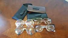 Vintage Eyeglass Frames And Pouches Lot Of 7
