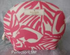 NWT Kate Spade Grant Street Grainy Vinyl Keri Domed Cosmetic Case Peony Pink Prt