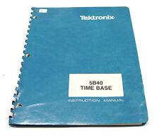 Tektronix 5B40 Instruction Manual f. 5000er, Time Base Plugin / Einschub