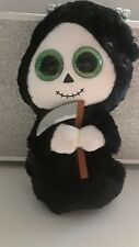 "TY BEANIE BOO  GRIMM THE HALLOWEEN GHOST 6"" SKELETON REAPER PLUSH"