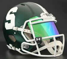 MICHIGAN STATE SPARTANS Authentic GAMEDAY Football Helmet w/ UA GREEN Eye Shield