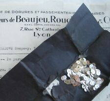 8mm Vintage Antique French Metal Silver Sequins Couture Embroidery Costume