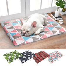 Washable Dog Bed Cushion With Removable Cover Soft Nesting Kennel Crate Mattress