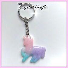 Glitter Unicorn Galaxy Theme Handmade Keyring Bag Charm Stocking Filler Gift #48