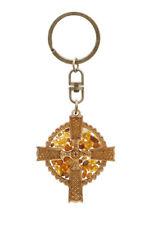 Schlüsselanhänger - keltisches Kreuz - Bernstein - Amber - Geschenk