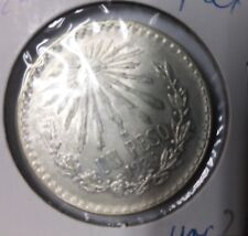 1924 Mexico Silver Peso-Cap and Rays/Eagle/ Snake