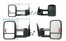 2003-2006 Chevy Silverado Yukon Tahoe Denali Power Heat Signal Tow Mirror PAIR