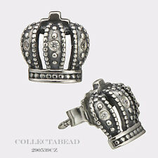 Authentic Pandora Sterling Silver Royal Crown CZ Stud Earrings 290539CZ