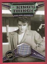 ELVIS PRESLEY WORN PLAID PAJAMA PIECE RELIC #d57/99 ROCK N ROLL KING'S THINGS