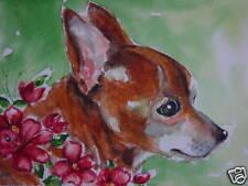 Chihuahua dog animal flower print
