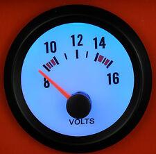 52mm Volt Meter/Voltage gauge Blue LED Light Universal for Petrol & Diesel Car