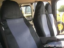 GREY-BLACK FABRIC SEAT COVERS TAILORED FOR FORD TRANSIT VAN 2001-2013 mk6 mk7