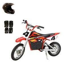 Razor MX500 Dirt Rocket 36V Electric Toy Dirt Bike with Protective Gear, Red