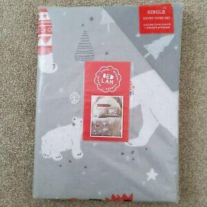 J ROSENTHAL Bedlam Christmas Polar Bear Duvet Bed Set SINGLE New