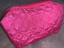 BRAND NEW Fabric Quilted Small Clutch / Travel / Make Up Bag Barbie Pink