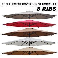 NEW Multi Color 10u0027 Patio Umbrella 8 Ribs Cover Canopy Replacement Top  Outdoor