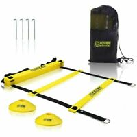Agility Ladder 20Ft for Speed & Agility Trainning 12 Heavy Duty Plastic Rungs