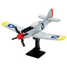 NANOBLOCK P51 Mustang Fighter Plane Nano Block MicroSize Building Blocks NBM-005