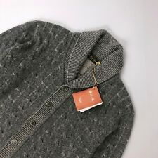 Loro Piana Men Grey CASHMERE Cable Knit Cardigan Jumper Sweater Pullover IT48 M