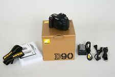Nikon D90 Digital SLR Camera - Black (Body Only) - w/ Box, Manuals, and Cables