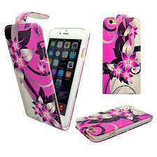 CASE FOR APPLE IPHONE 6 6S PLUS PINK CREAM FLOWER PU LEATHER FLIP POUCH COVER
