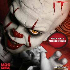 "Mezco 15"" Talking Pennywise from It - Designer Series Mega Scale Figure Mib"