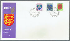 Jersey 1984 QE II Souvenir Cover With Three Crests stamps-Mint Unaddressed