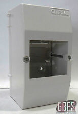 Clipsal 4CC3 Surface Mount Switchboard Enclosure 3 Module Plastic White IP20