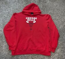 Chicago Bulls Adidas Hoodie Sweatshirt NBA Basketball Size Large