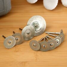 10Pcs Drills Cut Off Discs Wheel Blades Shank Rotary Tool for Power Accessories