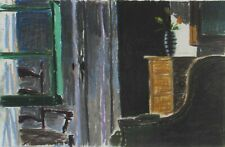 BRUCE COHEN Listed California Modernist Still Life in Interior Pastel oil 1992