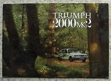 TRIUMPH 2000 Mk II Car Sales Brochure May 1970 #423/570/ENG