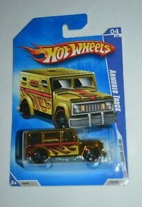 HOT WHEELS HW CITY WORKS 4/10 ARMORED TRUCK GOLD CHROME 110/190