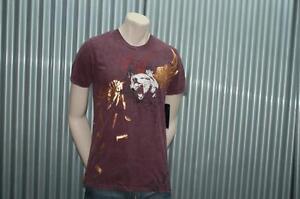 Ve'cel S/S T-Shirt Maroon Foil Bullets Chester Bennington Linkin Park Vecel XXL